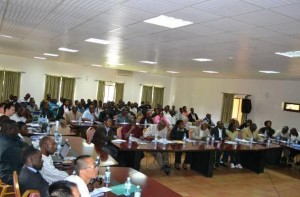 Participants at a recent KRC-Tullow regional dialogue meeting in Fort-Portal